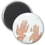 female hands fridge magnets
