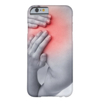 Female hands hold the base of the neck between barely there iPhone 6 case