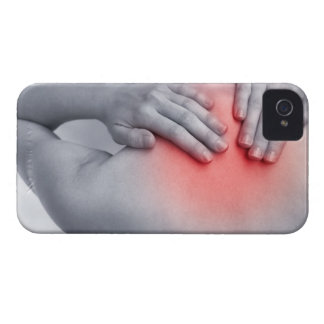 Female hands hold the base of the neck between iPhone 4 Case-Mate case