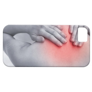 Female hands hold the base of the neck between iPhone SE/5/5s case
