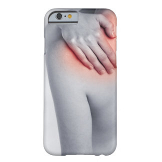Female hands holding the shoulder and massaging barely there iPhone 6 case