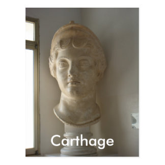 Female head in the Museum of Carthage Postcard