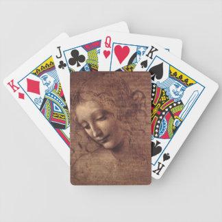 Female Head La Scapigliata by Leonardo da Vinci Bicycle Playing Cards
