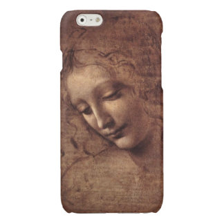 Female Head La Scapigliata by Leonardo da Vinci Glossy iPhone 6 Case