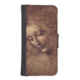 Female Head La Scapigliata by Leonardo da Vinci iPhone 5 Wallets