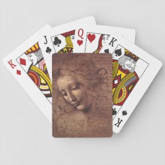 Female Head La Scapigliata by Leonardo da Vinci Poker Deck