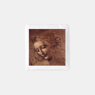 Female Head La Scapigliata by Leonardo da Vinci Reusable Bag