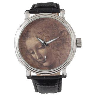 Female Head La Scapigliata by Leonardo da Vinci Wrist Watch