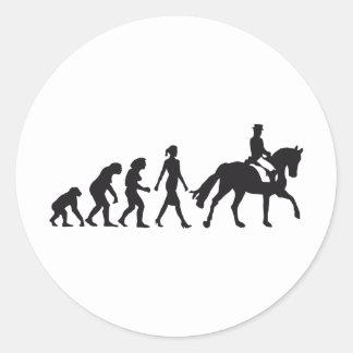 female horse more rider classic round sticker