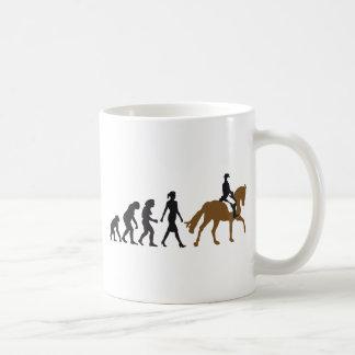 female horse more rider coffee mug