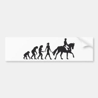female horse rider etiqueta de parachoque