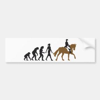 female horse rider pegatina de parachoque