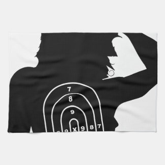 Female Human Shape Target Kitchen Towel