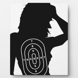Female Human Shape Target Plaque
