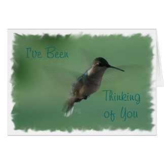 Female Hummingbird in Flight-any occasion Greeting Card