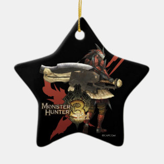 Female Hunter with Switch Axe, Rathalos Armor Ceramic Ornament