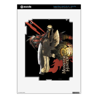 Female Hunter with Switch Axe, Rathalos Armor iPad 3 Decal