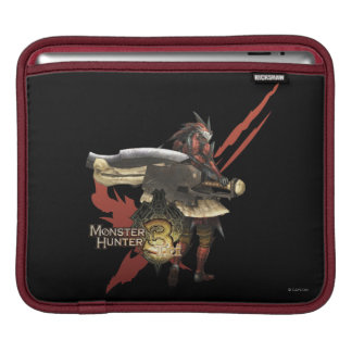 Female Hunter with Switch Axe, Rathalos Armor iPad Sleeve