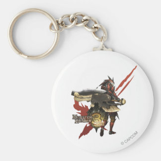 Female Hunter with Switch Axe, Rathalos Armor Keychain