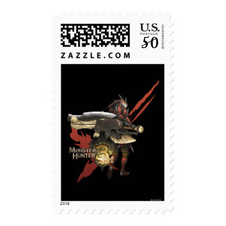 Female Hunter with Switch Axe, Rathalos Armor Postage