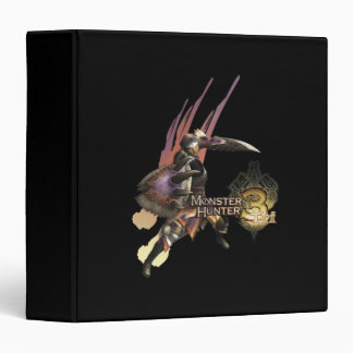Female Hunter with Sword and Shield, Jaggi Armor 3 Ring Binder