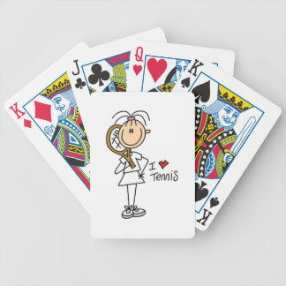 Female I Love Tennis Bicycle Playing Cards