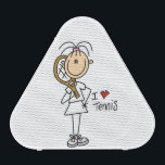 """Female I Love Tennis Bluetooth Speaker<br><div class=""""desc"""">If you love stick figures and the sport of tennis you&#39;ll love these cute female stick figure I Love Tennis design magnets,  key chains,  bathroom sets,  speakers,  postage stamps,  spiral notebooks,  iPhone cases,  and many other stick figure tennis products that make great gifts for tennis players!</div>"""