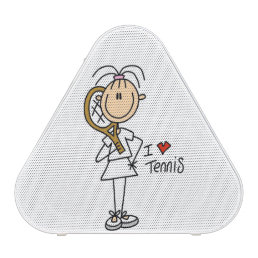 Female I Love Tennis Bluetooth Speaker