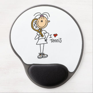 Female I Love Tennis Gel Mouse Pad