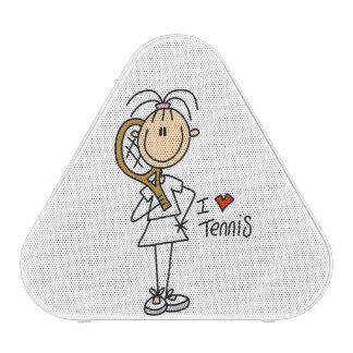 Female I Love Tennis Bluetooth Speaker