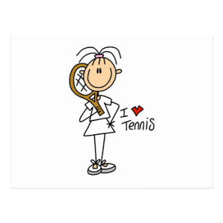 Female I Love Tennis Postcard