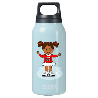 Female Ice Skating Figure Thermo Bottle