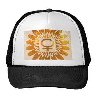 Female Icon Symbol : Golden Sunflower Energy Hats
