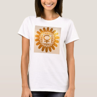 Female Icon Symbol : Golden Sunflower Energy T-Shirt