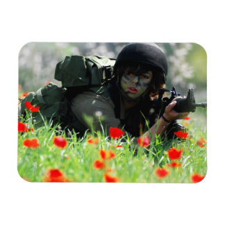 Female IDF In Camouflage Magnet