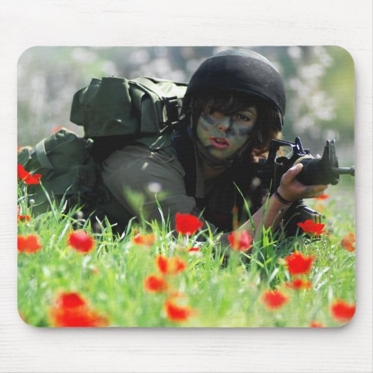 Female IDF In Camouflage Mouse Pad