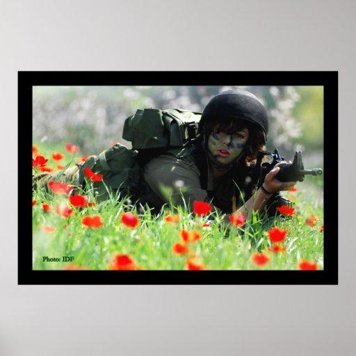 Female IDF In Camouflage Print