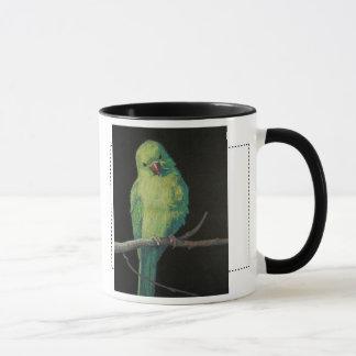 Female Indian Ringneck Parrot Mug