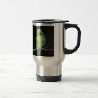 Female Indian Ringneck Parrot Travel Mug