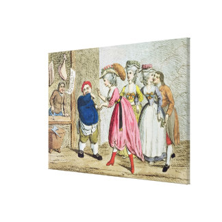 Female Influence, or the Devonshire Canvas Canvas Print