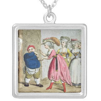 Female Influence, or the Devonshire Canvas Silver Plated Necklace