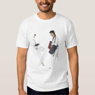 Female karate instructor teaching martial arts shirt