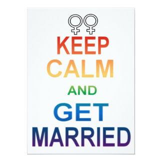 Female - Keep calm and Get Married Invitations