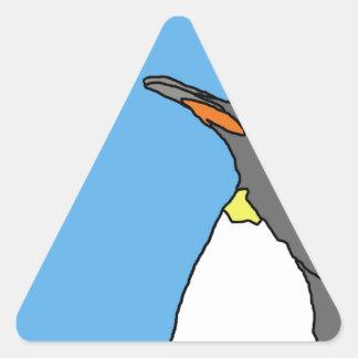 Female King Penguin Triangle Sticker