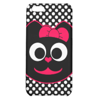 Female Kitty Cat Pink iPhone 5C Cases
