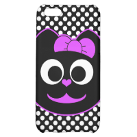Female Kitty Cat purple Case For iPhone 5C