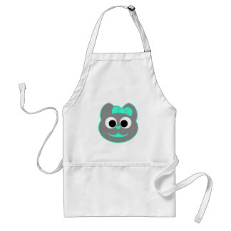 Female Kitty Green - Gray Adult Apron
