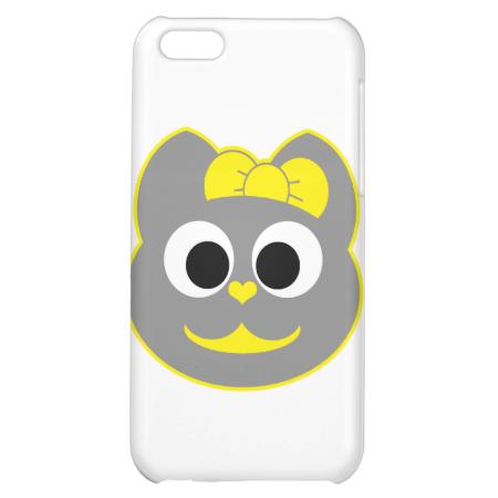 Female Kitty Yellow - Gray iPhone 5C Covers