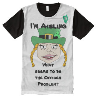 Female Leprechaun Gets Arrested - Your Name All-Over Print T-shirt