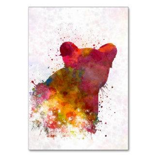 Female Lion 02 in watercolor